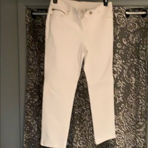 Chicos white ankle jean
